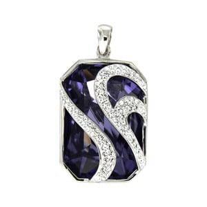 Strieborný prívesok s fialovými krištáľmi Swarovski Elements Crystals Violet