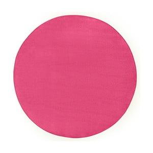 Ružový koberec Hanse Home, ⌀ 200 cm