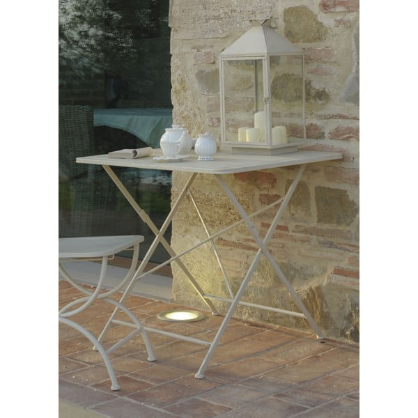 Kovový stolík Garden, slonovinová kosť