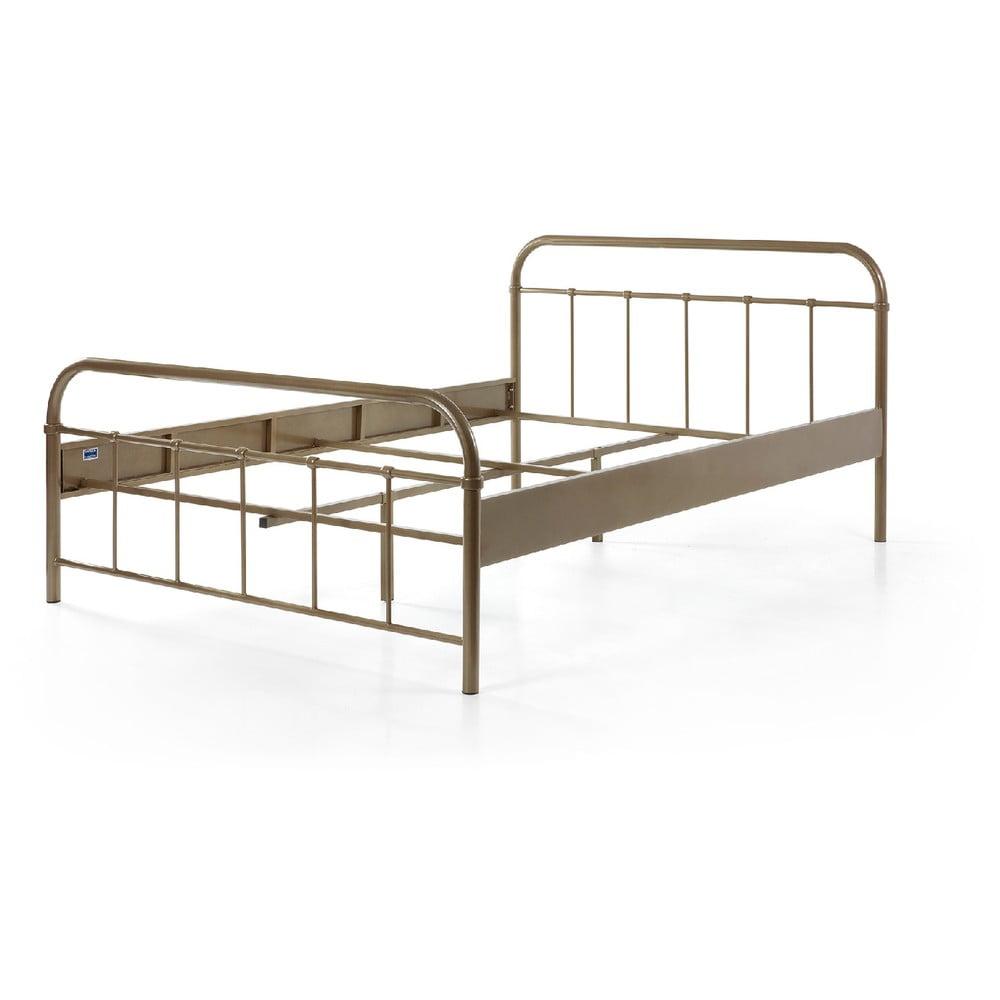 Hnedá kovová detská posteľ Vipack Boston Baby, 140 × 200 cm
