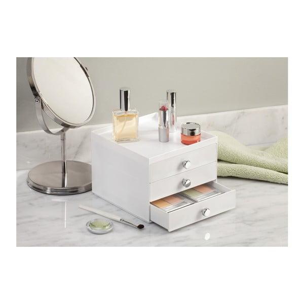 Biely organizér s 3 zásuvkami InterDesign Desk