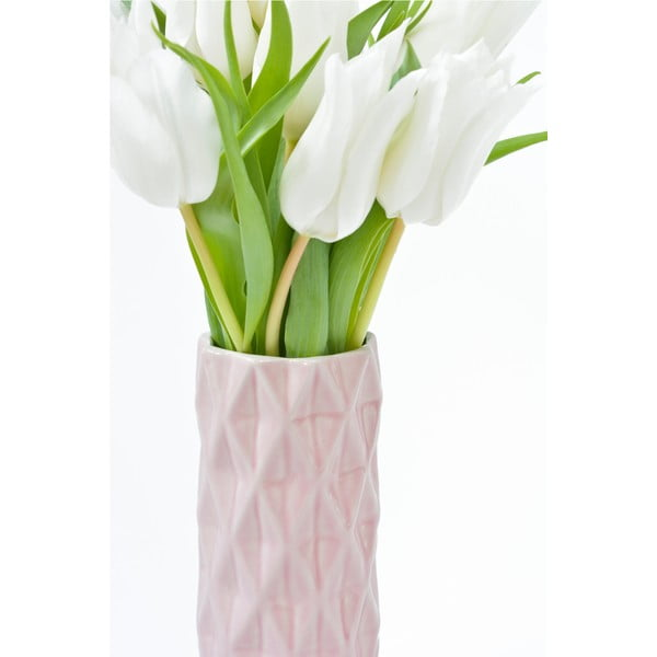 Ružová váza Hawke&Thorn, výška 19cm