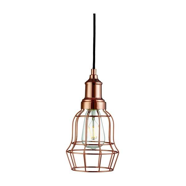 Stropné svietidlo Searchlight Bell Cage, medená