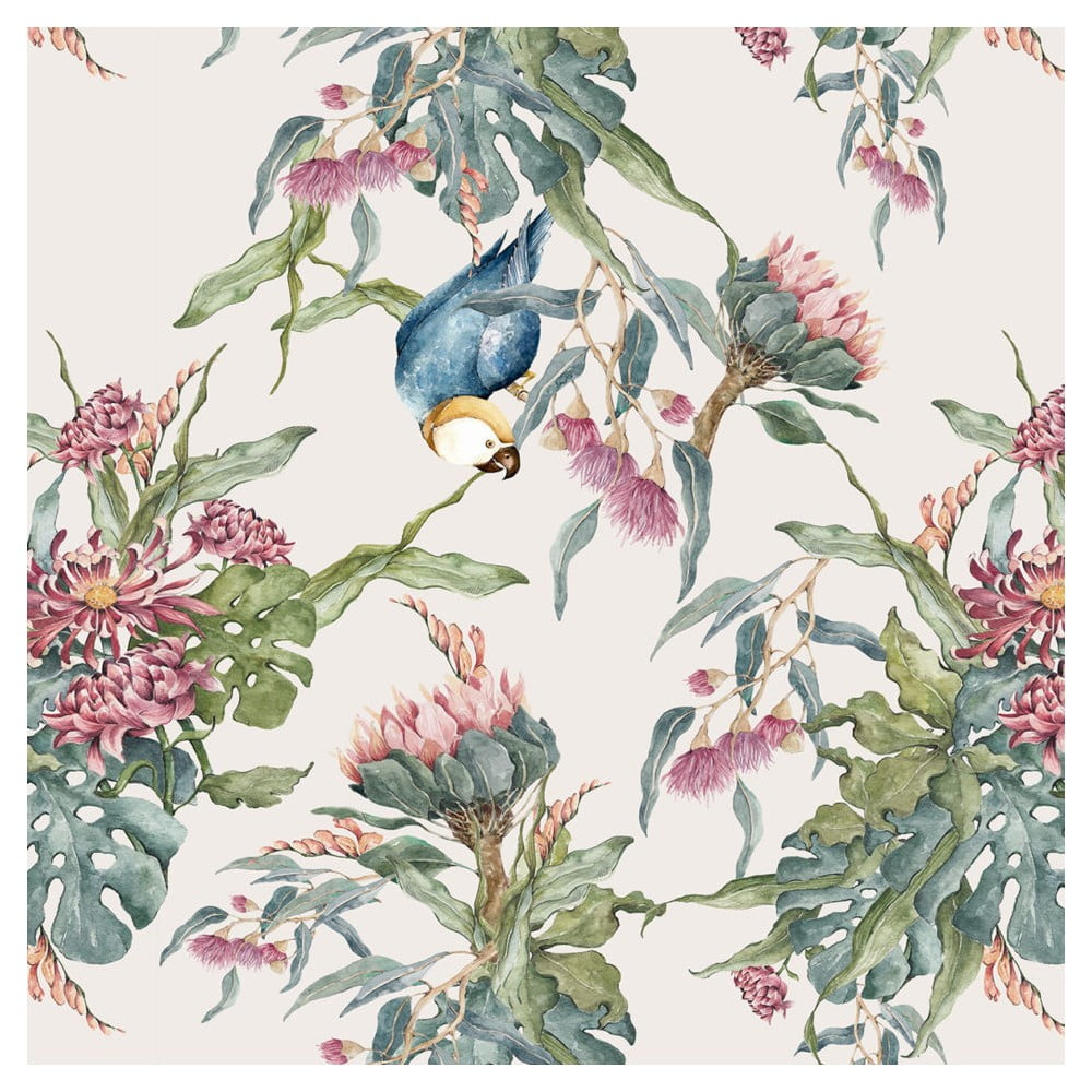 Tapeta na stenu Dekornik Tropical Parrot, 50 x 280 cm