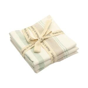 Sada 3 pruhovaných bavlnených uterákov My Home Plus, 33×33 cm