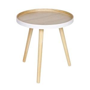 Odkladací stolík s bielym detailom WOOOD Sasha