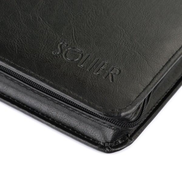 Organizér v doskách Solier ST02, čierna