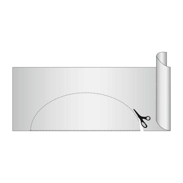 Červená protišmyková podložka do zásuvky Wenko Anti Slip, 150×50 cm
