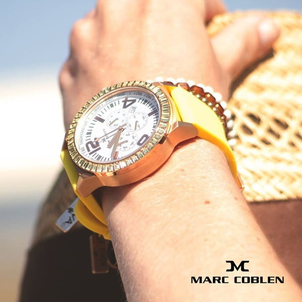 Dámske hodinky Marc Coblen s remienkom a krúžkom na ciferník naviac P35