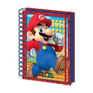 Linajkový zápisník A5 Pyramid International Super Mario, 80 strán