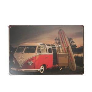 Ceduľa Surfer Volkswagen, 20x30 cm