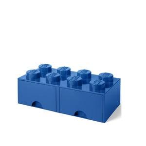 Modrý úložný box s 2 zásuvkami LEGO®