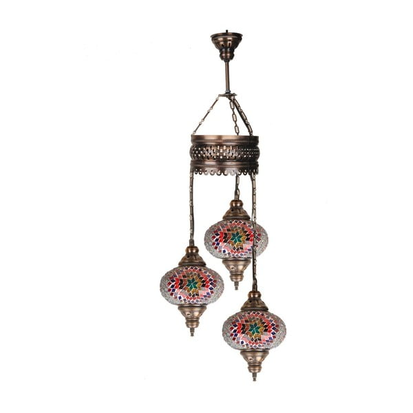 Sklenená ručne vyrobená závesná lampa Silvia, ⌀ 17 cm