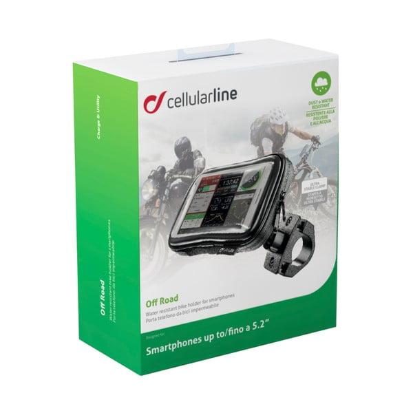 """Držiak na bicykel a puzdro s dotykovým ovládaním Cellularline OFFROAD pre telefóny do 5,2"""""""