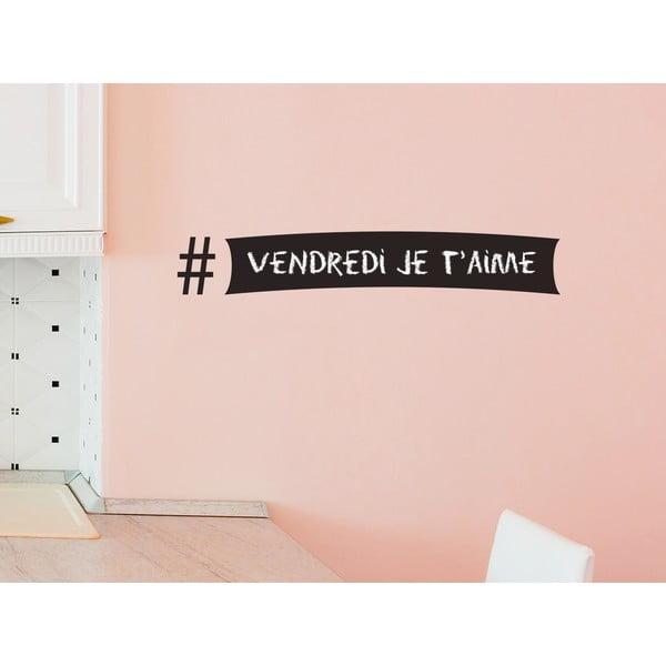 Dekoratívna tabuľová samolepka Hashtag