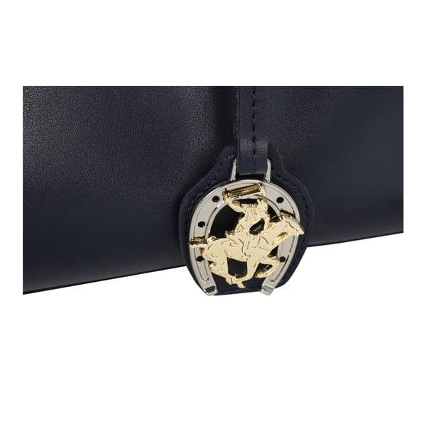 Tmavomodrá kabelka z eko kože Beverly Hills Polo Club Alicia
