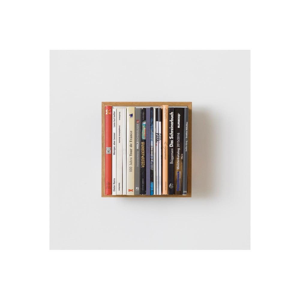 Polica na knihy z dubového dreva das kleine b b7, výška 34 cm