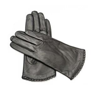 Dámske čierne kožené rukavice Pride & Dignity Toronto, veľ. 8