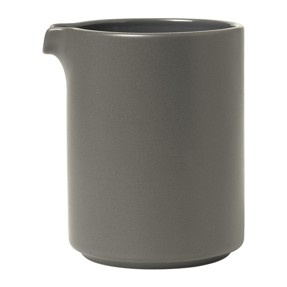 Sivá keramická nádoba na mlieko Blomus Pilar, 280 ml