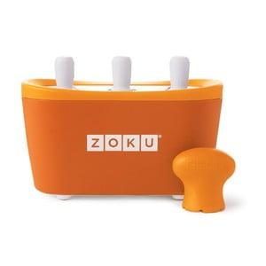 Oranžový zmrzlinovač Zoku Quick Pop