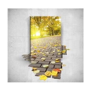 Nástenný 3D obraz Mosticx Autumn Road, 40×60 cm