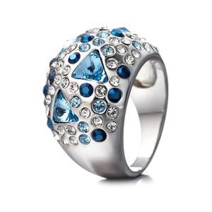 Prsteň s modrými krištáľmi Swarovski Elements Crystals Triangle, vel. 6