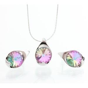 Set náhrdelníka a náušníc Laura Bruni Multi Pink