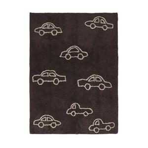 Hnedý bavlnený ručne vyrobený koberec Lorena Canals Cars, 120 x 160 cm