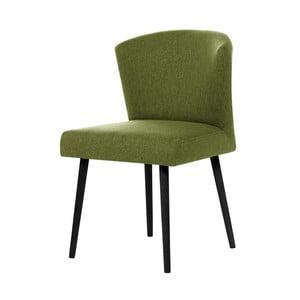 Zelená jedálenská stolička s čiernymi nohami My Pop Design Richter
