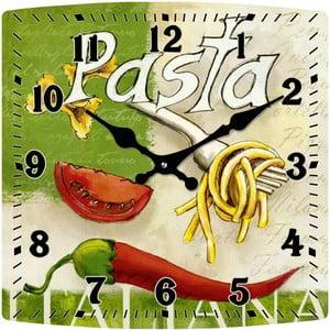 Sklenené hodiny Pasta, 30x30 cm