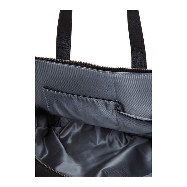 Kožená kabelka s dlouhým aj krátkym popruhom Marta Ponti Strada, čierna