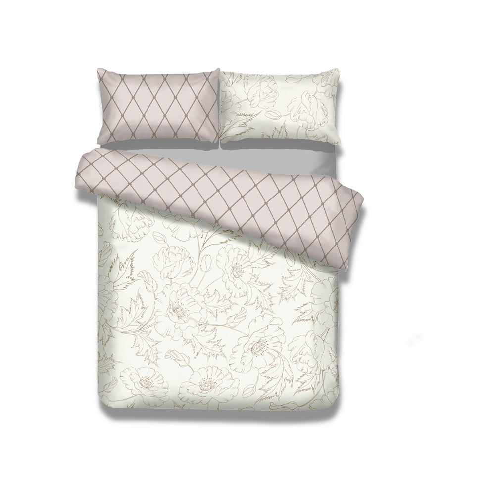 Flanelové posteľné obliečky AmeliaHome Art Nouveau, 155 x 220 cm
