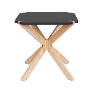 Čierny príručný stolík Leitmotiv Mister, 45 x 45 cm