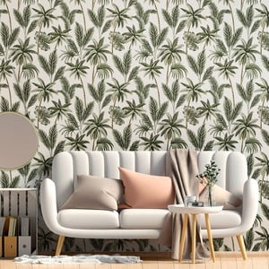 Dekoratívna samolepka na stenu Ambiance Leaves, 60 x 60 cm