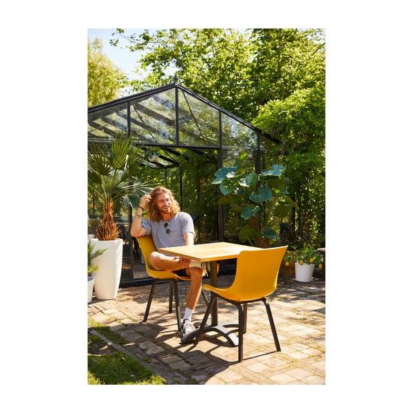 Záhradný stolík z teakového dreva Hartman Sophie Bistro, 70 × 70 cm