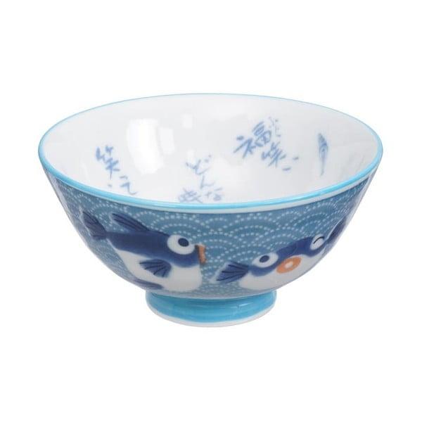 Modrá miska Tokyo Design Studio Fish, ø 11,2 cm