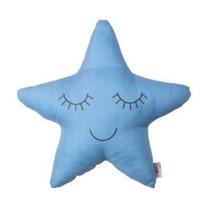 Modrý detský vankúšik s prímesou bavlny Apolena Pillow Toy Star, 35 x 35 cm