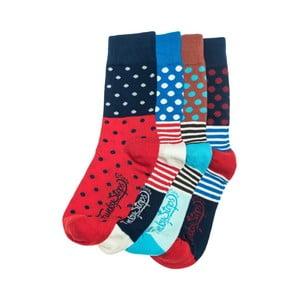 Sada 4 párov unisex ponožiek Funky Steps Roni, veľkosť 39/45