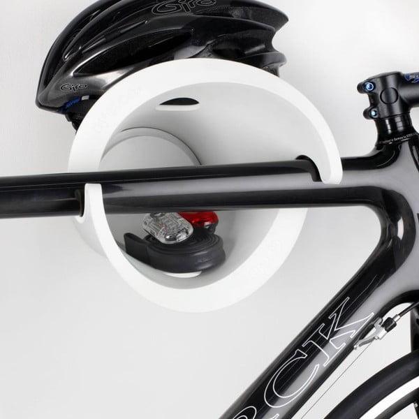 Dizajnový držiak na bicykel Solo, biely