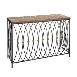 Konzolový stolík Brown Industrial, 107x38x77,5 cm