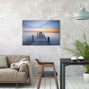 Sklenený obraz OrangeWallz Bridge, 60 x 90 cm