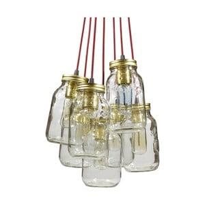 Závesné svetlo JamJar Lights, sedem vínových káblov