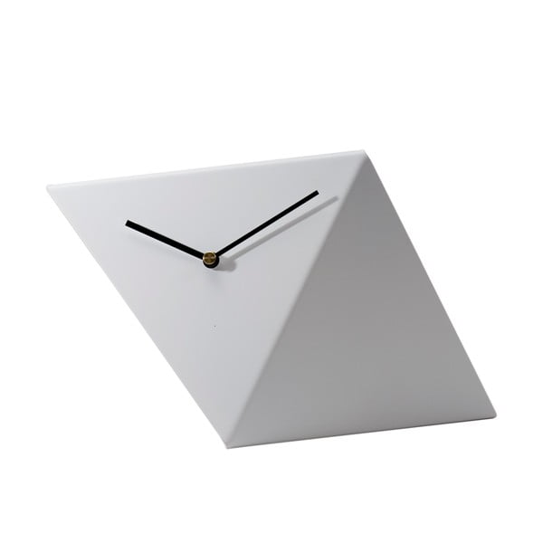 Stolné hodiny Clock 25 cm, biele