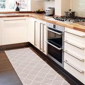 Vysokoodolný kuchynský koberec Lattice Sand, 60x220cm