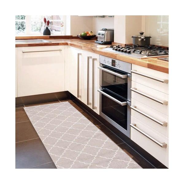 Vysokoodolný kuchynský behúň Lattice Sand, 60×220cm