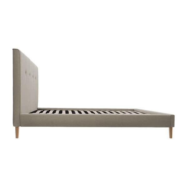 Svetlohnedá posteľ VIVONITA Kent 160x200cm, svetlé nohy