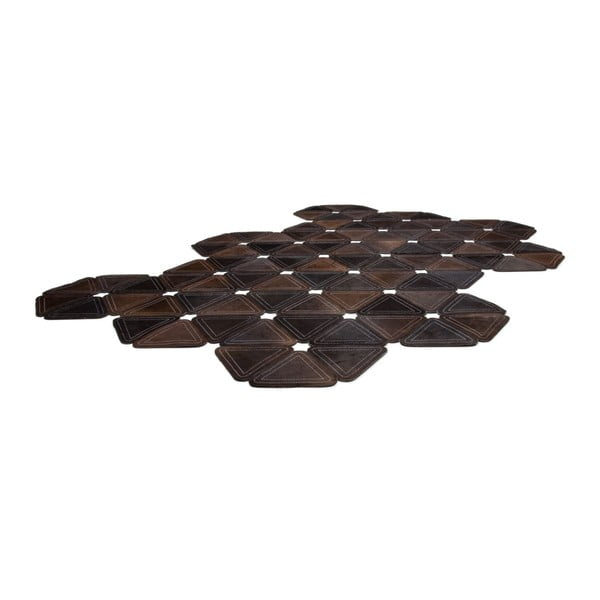Kožený koberec Brown Revolution, 116x174 cm