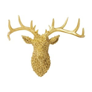 Dekorácia v zlatej farbe Kare Design Deco Antler Deer Gold