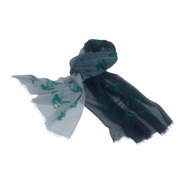 Sivo-zelená šatka Goldgeweih Lara