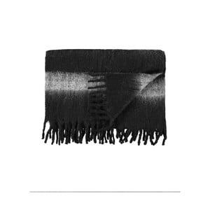 Pléd Marc O'Polo Stripe, 130x170 cm, čierny
